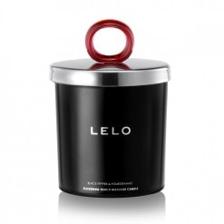 Lelo Black Flickering Touch Massage Candle (Pepper And Pomegranate)